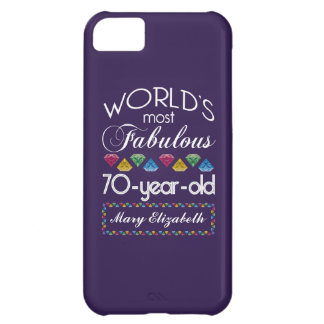 70th Birthday Most Fabulous Colorful Gems Purple Cover For iPhone 5C