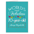70th Birthday Most Fabulous Colourful Gems Card