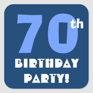 70th Birthday Party Envelope Seal