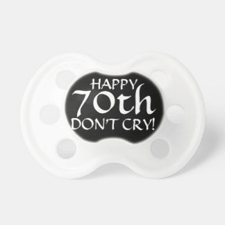 70th Birthday Party Gag Gift or Cake Topper! Pacifier