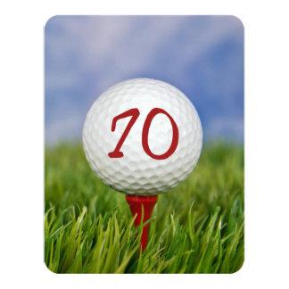 70th Birthday Party Golf theme Card