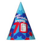 70th birthday personalized photo star name hat