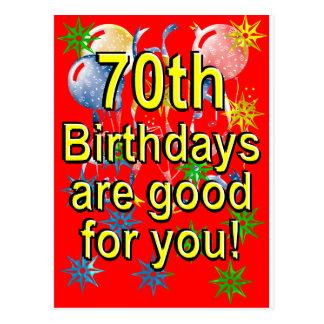 70th Birthday Postcard
