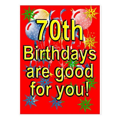 70th Birthday Post Cards