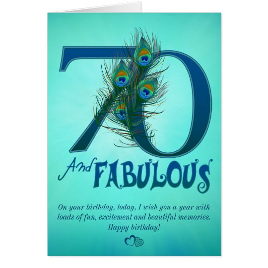 70th Birthday template Cards