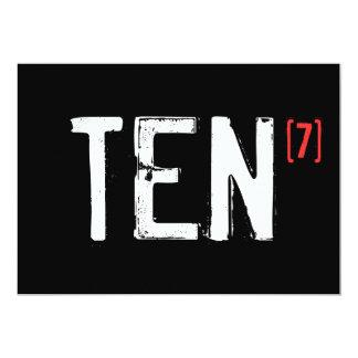 70th Birthday - Ten to the Seventh Invitation