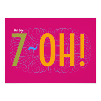 70th Birthday - the Big 7-OH! Card