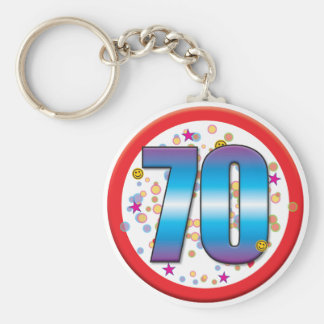 70th Birthday v2 Keychain