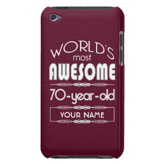 70th Birthday Worlds Best Fabulous Dark Red iPod Touch Cases