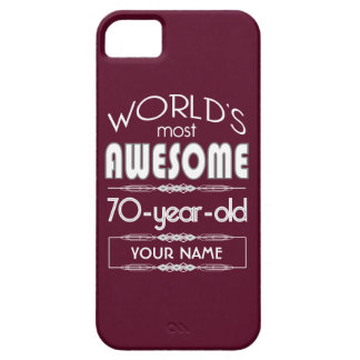 70th Birthday Worlds Best Fabulous Dark Red Case For iPhone 5/5S