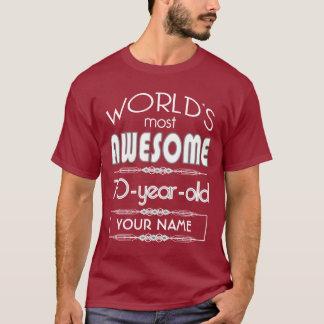 70th Birthday Worlds Best Fabulous Dark Red Maroon T-Shirt