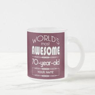 70th Birthday Worlds Best Fabulous Dark Red Coffee Mug