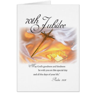 70th Jubilee Religious Life, Nun, Cross Candle Card