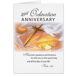 70th Ordination Anniversary, Cross Candle Card
