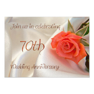 70th wedding anniverary party invitation