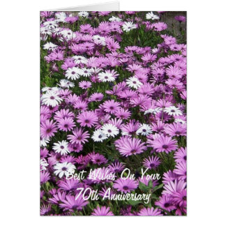 70th Wedding Anniversary African Daisies Card