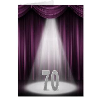 70th wedding anniversary in spotlight card