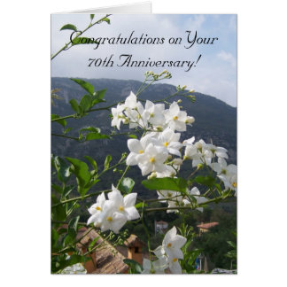 70th Wedding Anniversary Jasmine Card