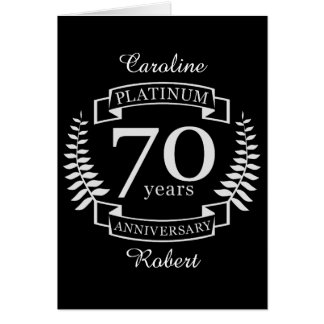 70th Wedding ANNIVERSARY PLATINUM Card