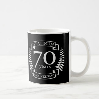 70th Wedding ANNIVERSARY PLATINUM Coffee Mug