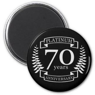 70th Wedding ANNIVERSARY PLATINUM Magnet