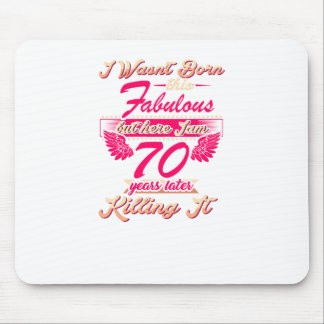 70th year birthday gift party tee shirt mouse pad