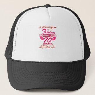 70th year birthday gift party tee shirt trucker hat