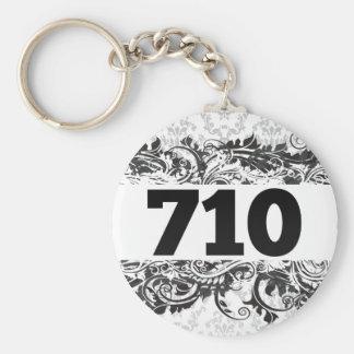 710 BASIC ROUND BUTTON KEYCHAIN