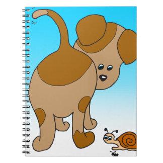 713 dog snail ant cartoon spiral note book