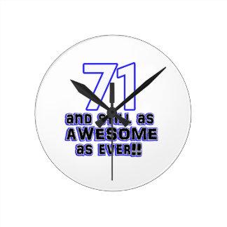 71 birthday design wallclock