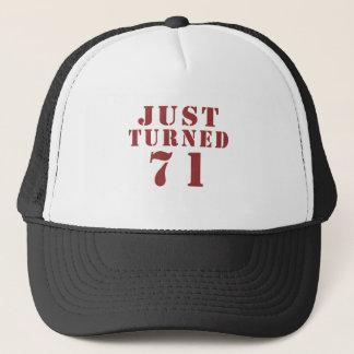 71 Just Turned Birthday Trucker Hat