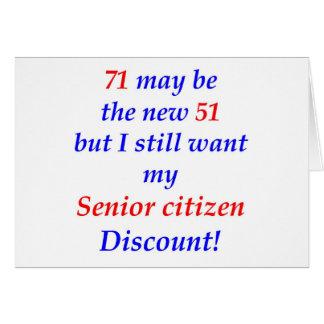 71 Senior Citizen Card