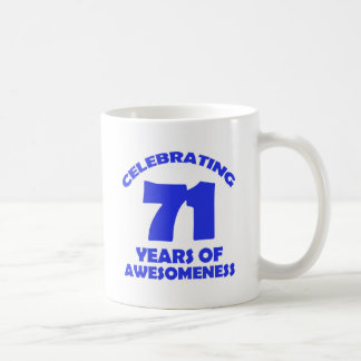 71 years old birthday designs coffee mug