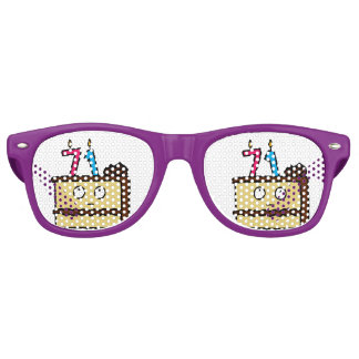 71st Birthday Cake with Candles Party Shades