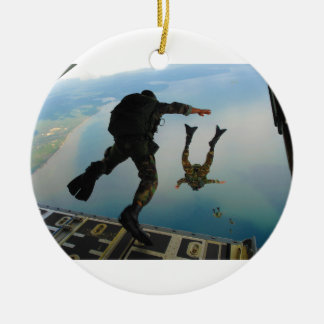 720h Special Tactics Group Jumping Out of Planet Round Ceramic Ornament