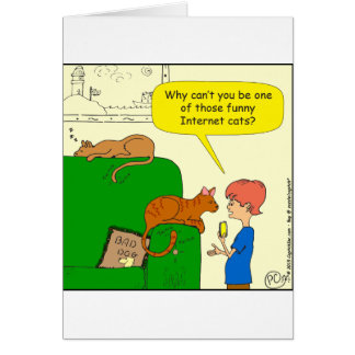727 Funny internet cat cartoon Card