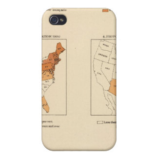 72 Density, proportion, increase, foreign born iPhone 4 Case