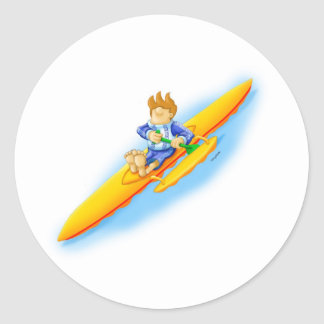 72_outrigger_2 classic round sticker