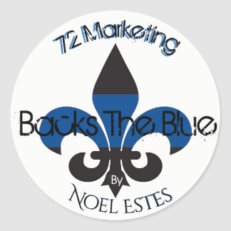 72marketing Backs The Blue Collection Sticker