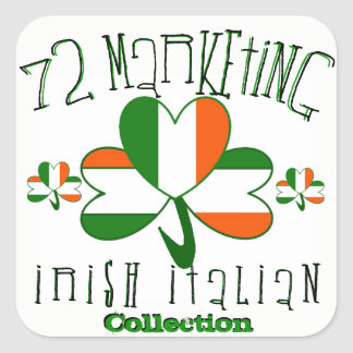 72marketing Irish Italian Stickers