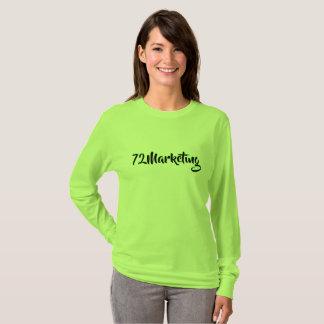 72marketing neon green script logo noel estes T-Shirt