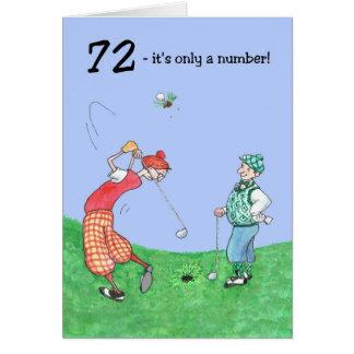 72nd Birthday Card for a Golfer