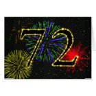 72nd Birthday card with fireworks