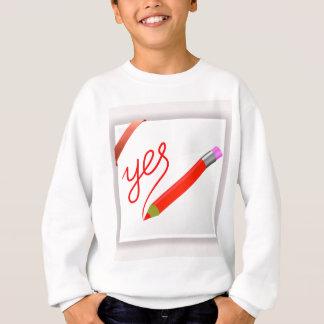 72Red Pencil_rasterized Sweatshirt
