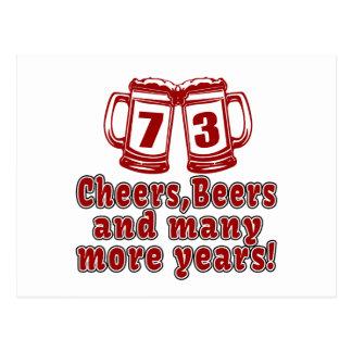 73 Cheers Beer Birthday Postcard