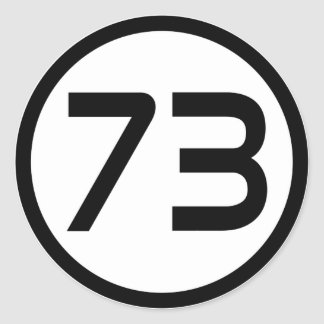 73 CLASSIC ROUND STICKER