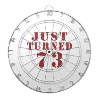 73 Just Turned Birthday Dart Boards