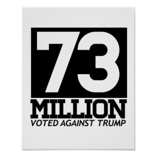 73 MILLION VOTED AGAINST TRUMP - POSTER