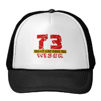73 Today And None The Wiser Trucker Hat