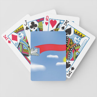73Plane Banner_rasterized Bicycle Playing Cards
